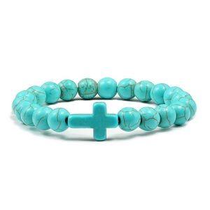 Elastic Blue Bracelet Turquoise for women,